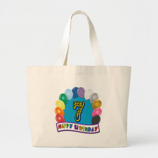 7th Birthday Gifts with Assorted Balloons Tote Bag