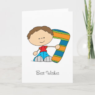 Boy 7th birthday cards zazzle uk 7th birthday greetings card boy m4hsunfo