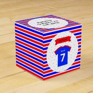 7th birthday party custom name sports favour box