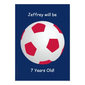 7th Birthday Party Invitation Soccer Ball Custom Invitations