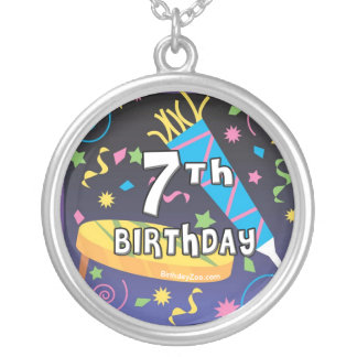 7th Birthday Party Necklace