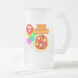 7th Birthday Pizza Birthday Coffee Mugs