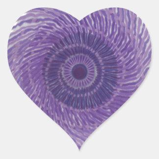 7th Chakra Art - #3 Heart Stickers