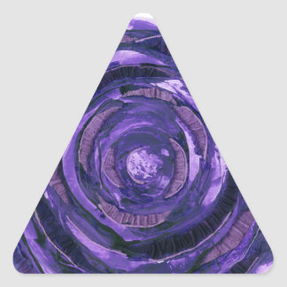 7th-Crown Chakra Clearing Artwork #2 Triangle Sticker
