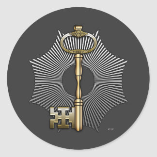 7th Degree: Provost and Judge Round Sticker