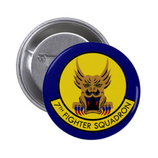 7TH FIGHTER SQUADRON AIR FORCE 6 CM ROUND BADGE