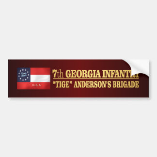 7th Georgia Infantry (BA2) Bumper Sticker