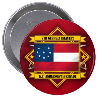 7th Georgia Infantry (v5) 10 Cm Round Badge
