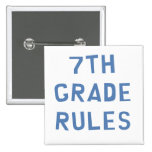 7th Grade Rules 15 Cm Square Badge