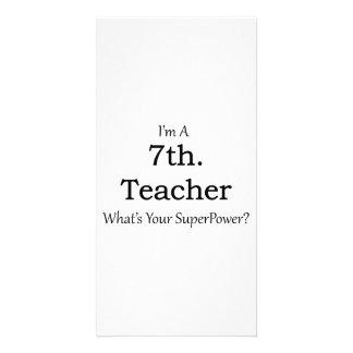7th. Grade Teacher Photo Card Template