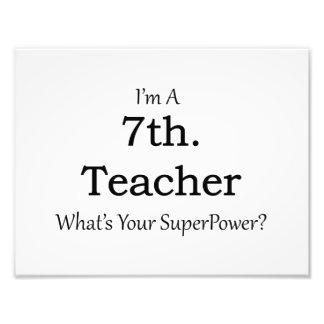 7th. Grade Teacher Photo Print