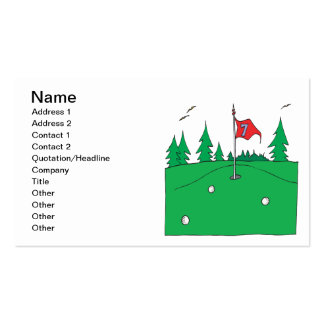 7th Hole Pack Of Standard Business Cards