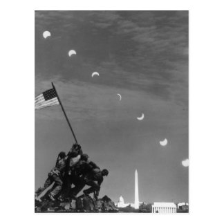 7th March 1970:  Ten separate exposures Postcard