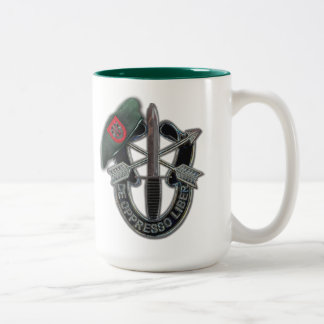 7th Special forces green berets veterans vets Two-Tone Mug
