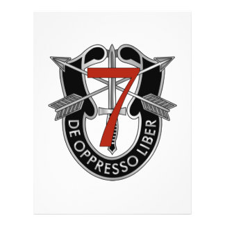 7th Special Forces Group Crest 21.5 Cm X 28 Cm Flyer