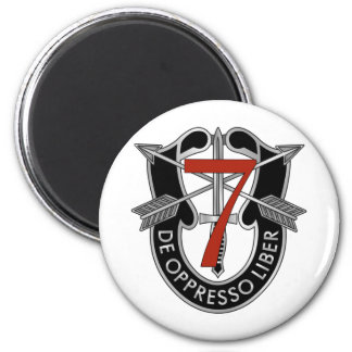 7th Special Forces Group Crest 6 Cm Round Magnet