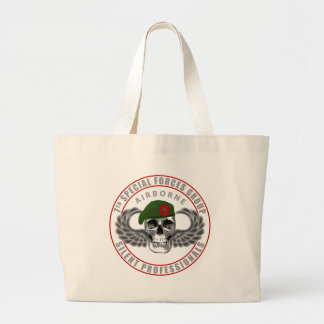 7th Special Forces Group - Skull Large Tote Bag