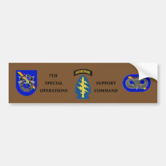 7TH SPECIAL OPS SUPPORT COMMAND BUMPER STICKER