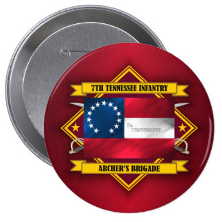 7th Tennessee Infantry (v5) 10 Cm Round Badge