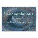7th Wedding Anniversary Cards