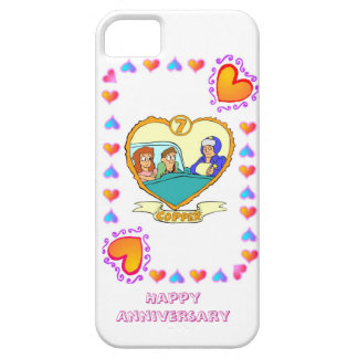 7th wedding anniversary, copper barely there iPhone 5 case