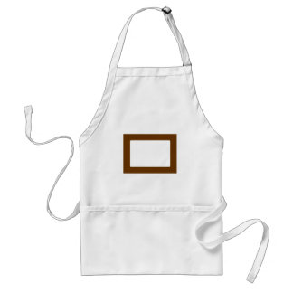 7X5 Card with Round Inside Conors Transp Brown Adult Apron