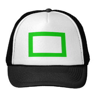 7X5 Card with Round Inside Conors Transp Green Mesh Hat