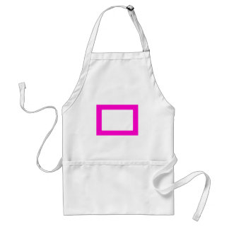 7X5 Card with Round Inside Conors Transp Magenta Adult Apron