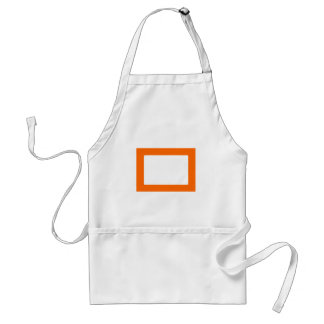 7X5 Card with Round Inside Conors Transp Orange Aprons