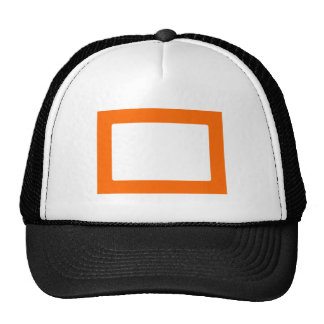 7X5 Card with Round Inside Conors Transp Orange Trucker Hat