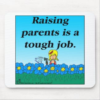 800 Raising parents cartoon Mouse Pad