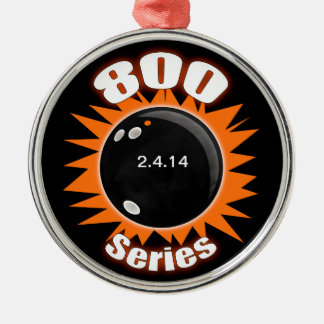 800 Series in Black and Orange Christmas Ornament