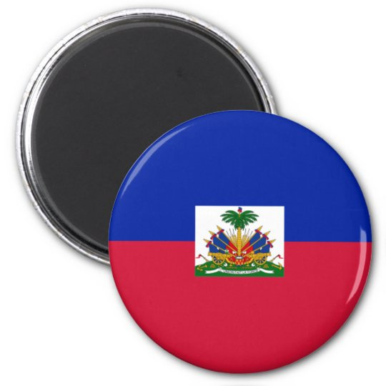 800px-Flag_of_Haiti_svg 6 Cm Round Magnet