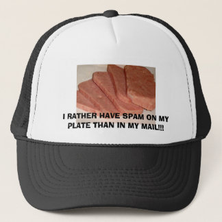 800px-Spam_with_cans, I RATHER HAVE SPAM ON MY ... Trucker Hat