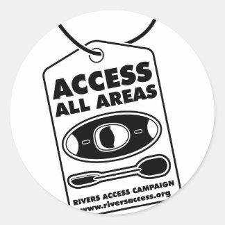 80 Access 1 Round Sticker