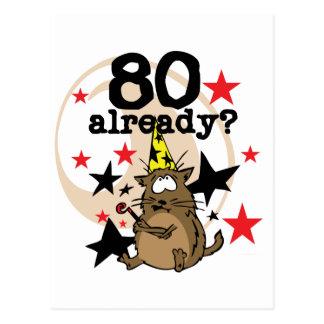 80 Already Birthday Postcard