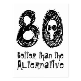 80 Better Than Alternative 80th Funny Birthday Q80 Postcard