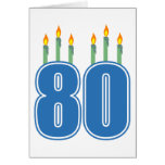 80 Birthday Candles (Blue / Green)