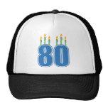 80 Birthday Candles (Blue / Green) Cap