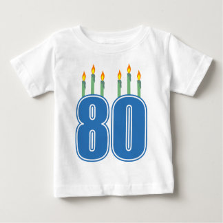 80 Birthday Candles (Blue / Green) Tees