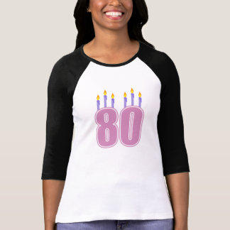 80 Birthday Candles (Pink / Purple) T-shirts