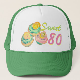 80 birthday cupcake hat