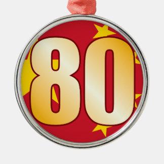 80 CHINA Gold Christmas Ornament