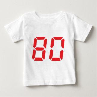 80 eighty red alarm clock digital number baby T-Shirt