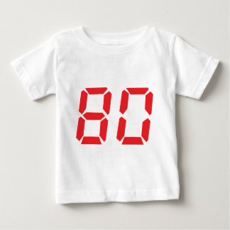 80 eighty red alarm clock digital number t-shirt