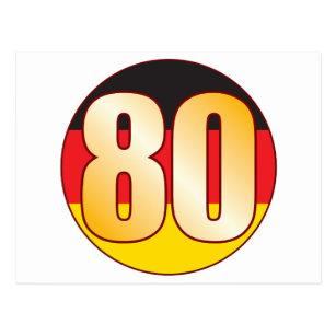 80 GERMANY Gold Postcard