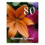 80 Glorious Years!-Birthday Party/Orange Lily