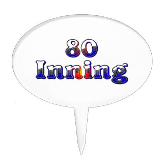 80 Inning Cake Toppers