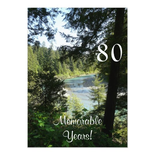 80 Memorable Years/Birthday Celebration-Lakeview Card