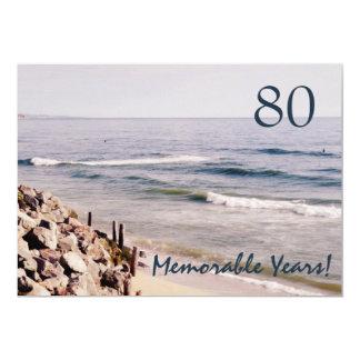 80 Memorable Years/Birthday Party-Ocean Card
